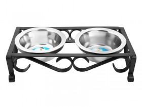 Raised Wrought Iron Diner in Black