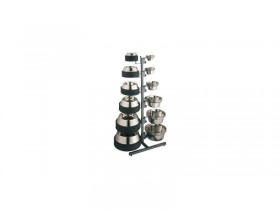 Double Sided Display Rack For Standard Feeding Dishes & Non Tip Dishes