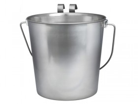 Heavy Duty Flat Sided Pails with hooks Contoured handles for comfortable lifting