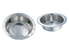 wide rim paw embossed dishes high gloss finish is easy to clean